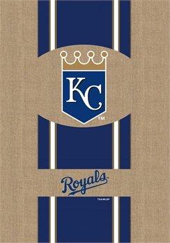 "MLB Licensed Kansas City Royals 28"" X 44"" Burlap House Flag"