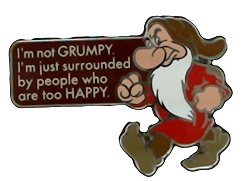 Disney's I'm Not Grumpy Pin From Snow White and the Seven Dwarfs