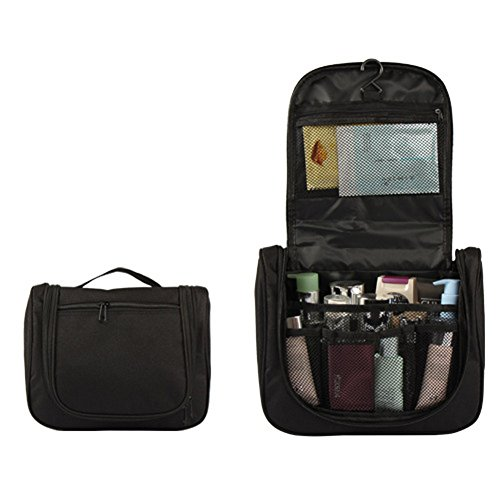 Travel-Toiletry-Bag-Hanging-Cosmetic-Storage-Foldable-Zippered-Vacation-Case-Kit-Portable-Water-Resistance-with-Compartments
