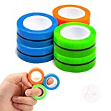 Kicko Magnetic Fidget Rings - 6 Pack - Neon