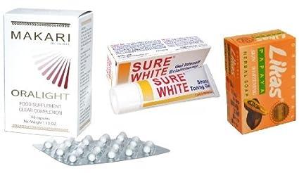 likas Papaya Soap Bar + Premium Sure White STRONG Toning Gel ...