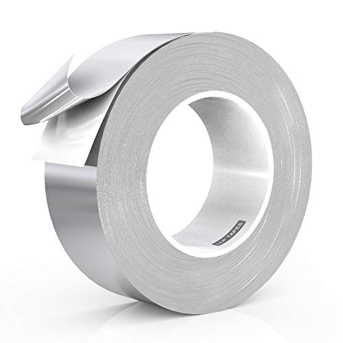 LLPT Aluminum Foil Tape 2 Inches x 108 Feet 5.9 Mil Extra Thick Strong Adhesive HVAC Sealing Hot Cold Air Duct Tape for Pipe Metal - Foil Mil Aluminum