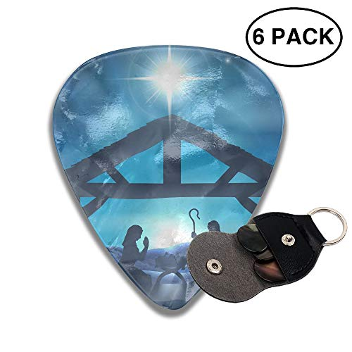 (Nativity Christmas Small Medium Large 0.46 0.71 0.96mm Mini Flex Assortment Celluloid Top Classic 351 Rock Electric Acoustic Guitar Pick Accessories Variety Pack)