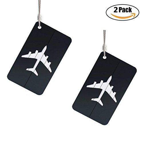 Travel Luggage Tags, Identifiers Labels For Baggage Suitcases Bags, Plane Metal Cruise Tag Set 2 - Skellington Lego Jack