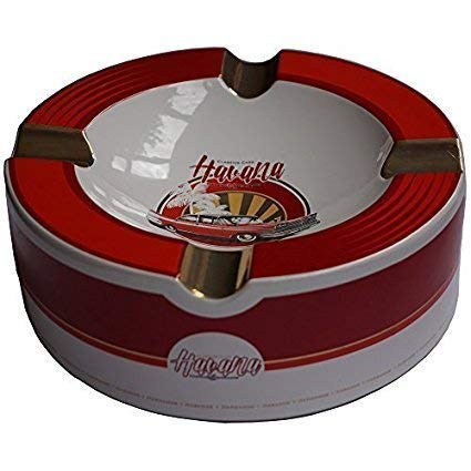 H&H Old Havana Cars Cigar Ashtray - Red Velvet (10