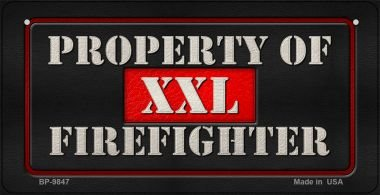 XXL Firefighter Novelty Bicycle License Plate BP-9847 by Smart Blonde