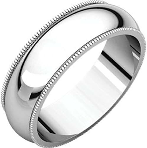 Palladium 6mm Milgrain Band