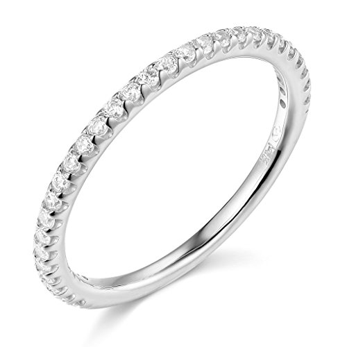 14k White Gold SOLID Wedding Band – Size 6