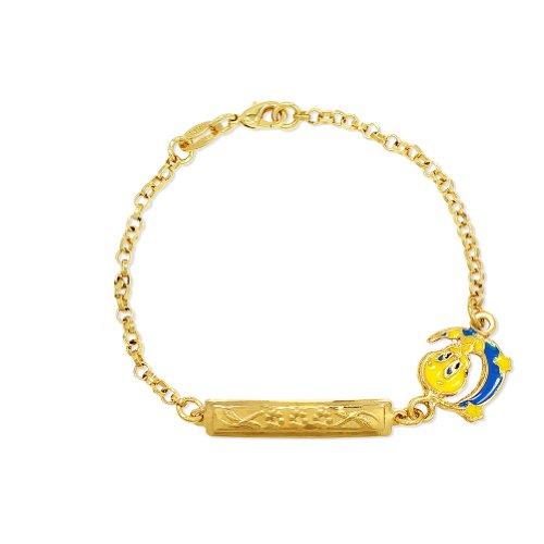 Childrens Enamel Star (BEST OFFER!!! STOCK SALE!!! GF 18k Tweety Bird Cartoon Moon Star Tag Bracelet Children 6