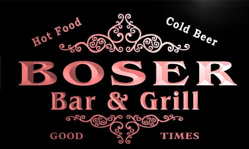 u04762-r-boser-family-name-bar-grill-cold-beer-neon-light-sign