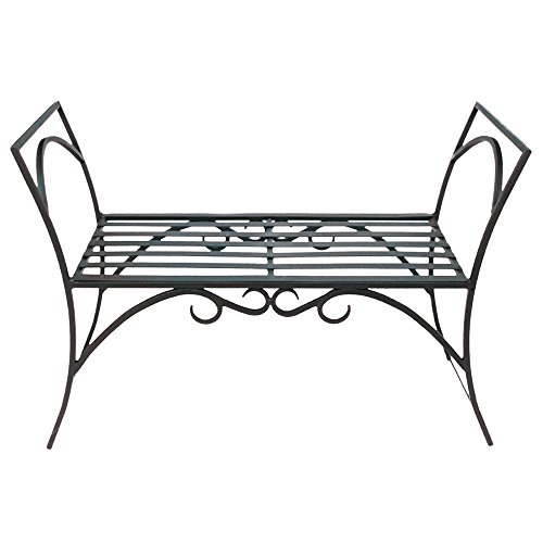Achla Designs Wrought Iron Decorative Garden Arbor Bench ()