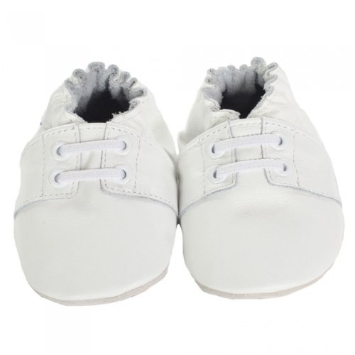 (Robeez Special Occasion Soft Sole Slip-On (Infant),White,6-12 Months M US Infant)