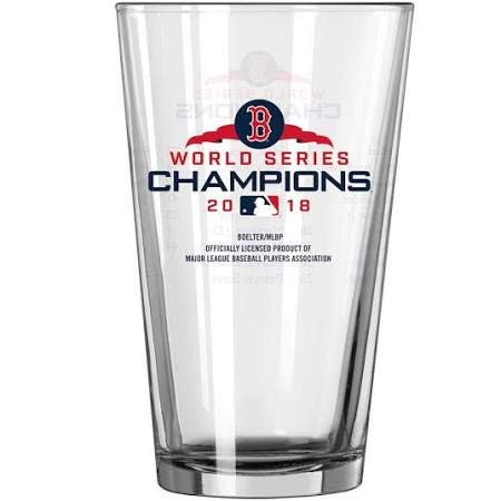 Boston Red Sox 2018 World Series Champions Team Roster 16 Ounce Pint Glass