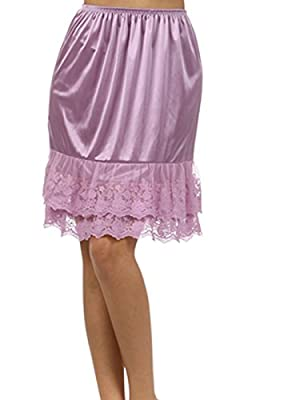 Melody Womens Lace Extender Slip Skirt Half Slip