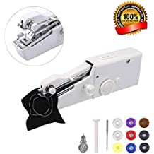 Portable Sewing Machine,MSDADA Handheld Sewing Machine, Mini Sewing Machine for Quick Repairs,Fabric Sewing,DIY, Home Travel Stitching,Best Christmas Gift for Kids &Adult(Bonus 9 Pcs Bobbins)