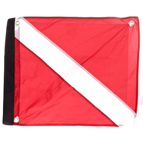 Marine Sport 4678 Deluxe 20 by 24-Inch Dive Flag with Velcro Attachment ()