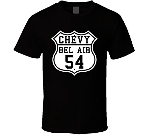 (Highway Route 1954 Bel Air Classic Car T Shirt XSY)