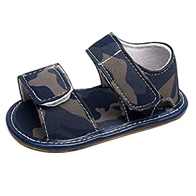 KONFA Toddler Newborn Baby Boys Girls PU Leather Flat Sandals,for 0-24 Months,Camouflage Summer Cool Shoes: Clothing