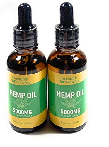 Pure Organic Hemp Oil 2 pack (5000mg, 100% Natural, 60ML Drops, Helps with loss of appetite Quality, Hemp Oil Seed, Help…