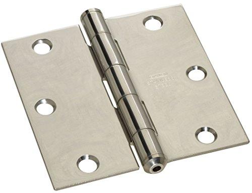 Stanley Hardware S690-360 CD747 Stainless Steel Square Corner Residential Hinge in Bright Stainless Steel