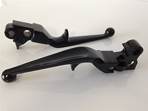 New Black Brake Clutch Lever For Harley Custom Flhr Road King Ultra And Touring