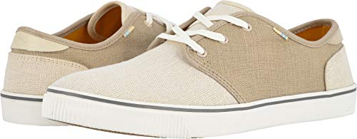 (TOMS Men's Carlo Birch/Oxford Tan Heritage Canvas (Vegan) 10.5 D US)