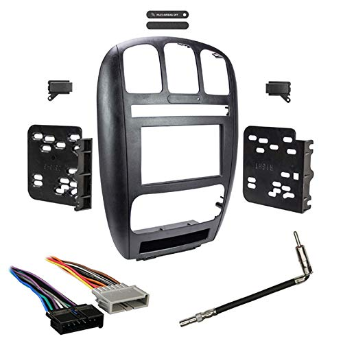 - Metra 95-6539 2 Din Dash Kit Combo for Select 2001 Dodge Caravan Chrysler Town & Country