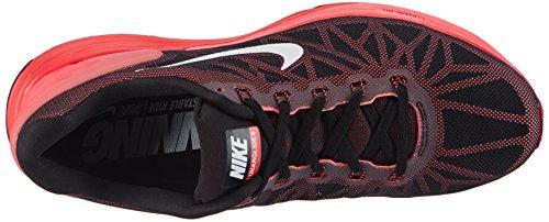 NIKE Lunarglide 6 Mens Running Sneaker Black/White/Brght Crmsn/Ht Lv qL5dE