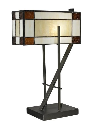 Tiffany Bronze Diamond - Dale Tiffany TT12414 Diamond Hill Table Lamp, 12