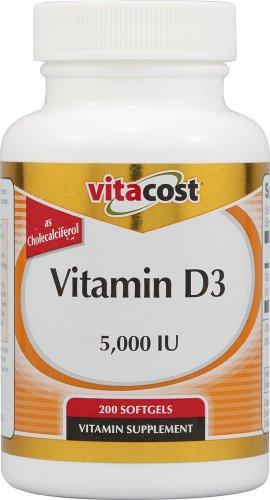 Vitacost Vitamin D3 -- 5,000 IU - 200 Softgels