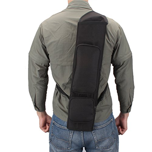 XTACER Back Arrow Canvas Quiver Hunting Training Camo Archery Target Quiver Holder Shoulder Bag Pouch Quiver, Back Quiver