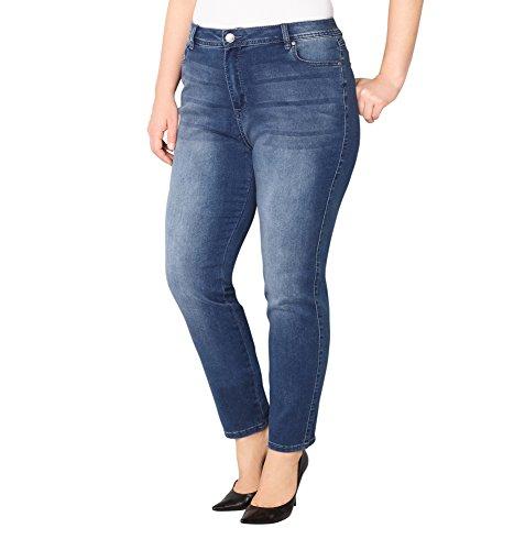 Avenue Women's Butter Denim Legging Jean (Med Wash), 26 Medium Wash