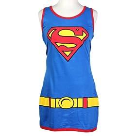 - 41ycTIGIntL - DC Comics Supergirl Juniors Blue Tank Top Dress