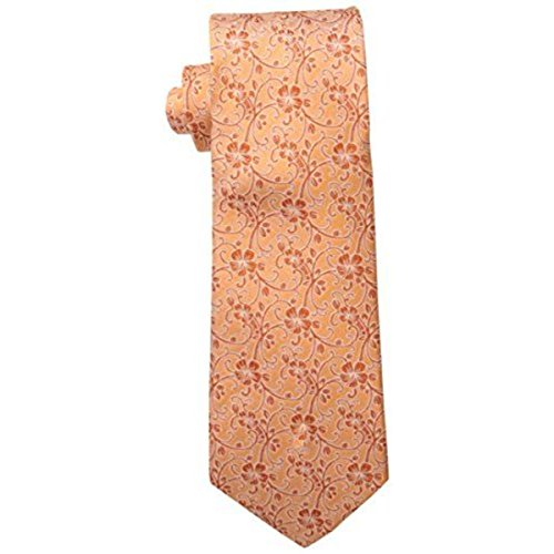 Tommy Bahama Men's Hibiscus Vine Necktie, Orange, One Size