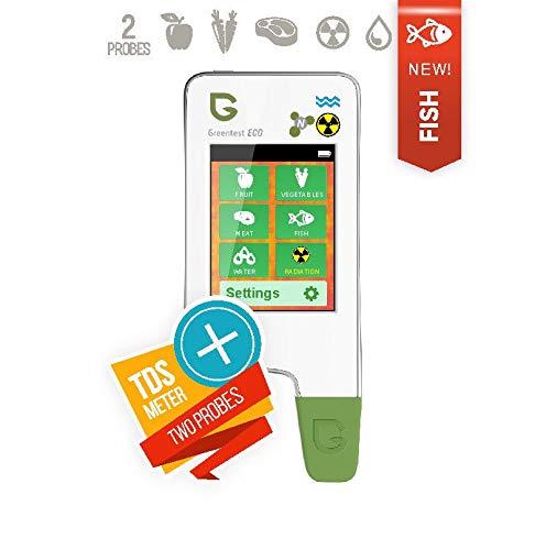 6in1 Greentest Eco 5 + Pescado Portátil detector de radiación + probador de nitrato + Prueba de agua TDS Radiómetro Nitrate Radiation detector geiger ...