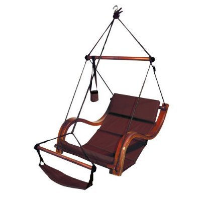 Deluxe Outdoor Porch Swing Patio Garden Furniture Swings Benches (BURGUNDY)
