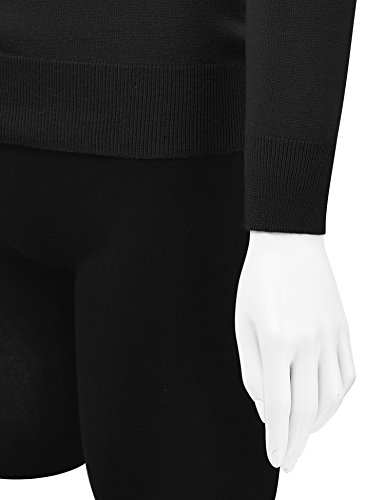 Lock and Love WSK781 Womens Keep It Classic Round Cardigan M Black by Lock and Love (Image #3)