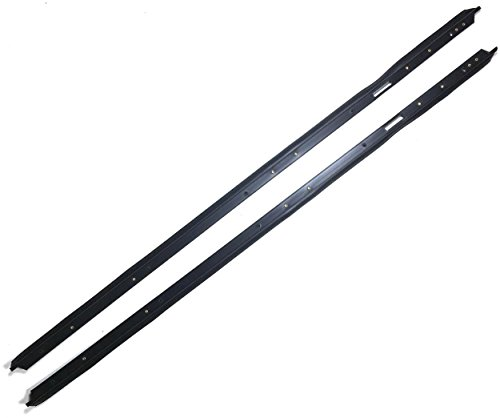 APDTY 140000 Door Window Outer Weatherstrip Seal Dew Wipe Felt Sweep Fits 1981-1988 Chevrolet Monte Carlo SS 1981-1987 Pontiac Grand Prix (Left & Right Outer Seals; Black, 2-Door Models)