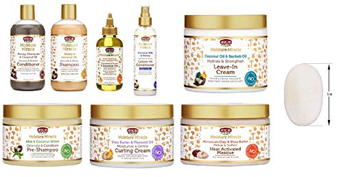 African Pride Moisturizing Miracle Combo Set (8pcsCOMBO-4JAR&SH&COND&OIL&LVIN-COND&SHEA-BUTTER)