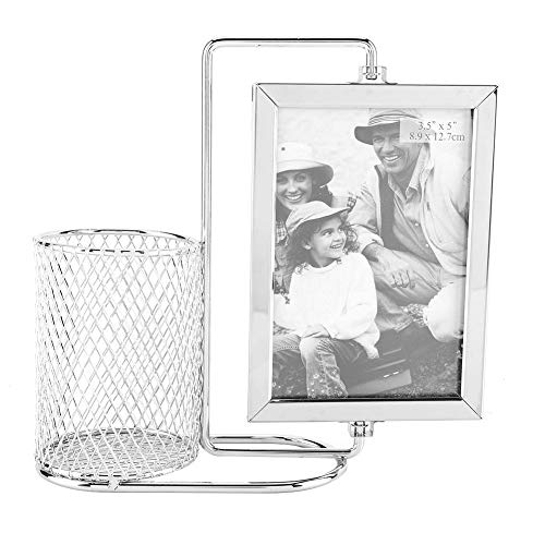 (Picture Photo Frame Photo Display for Desk Pen Holders Table Decoration Pen Cup)
