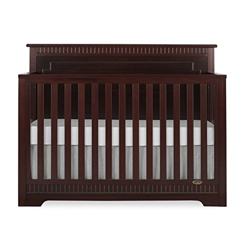 Dream On Me Morgan 5 in 1 Convertible Crib, Cherry ()