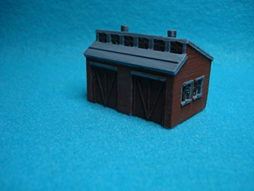 New N Scale Railroad Maintenance SHED White Ready to Paint TSP Models Item 7310