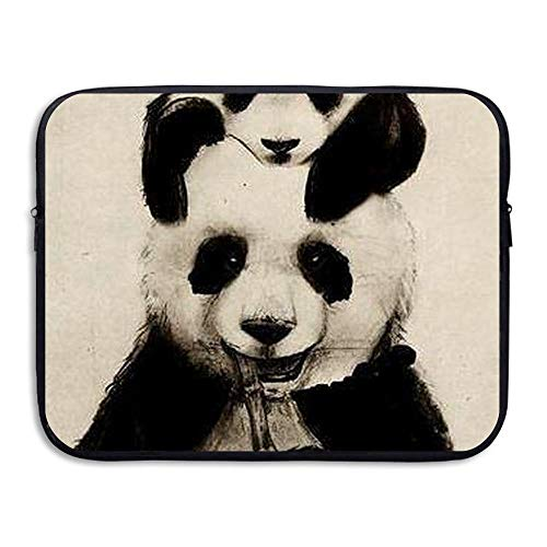 Baseball Briefcase Leather (CHJOO Briefcase Laptop Messenger Bag 13Inch Laptop Sve Cute Panda Soft Neoprene Sve Case Cover Bag for IPad Pro)