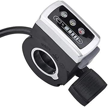 SHIJING 36V Bicicleta eléctrica Aceleradores 6 Cables de Control ...