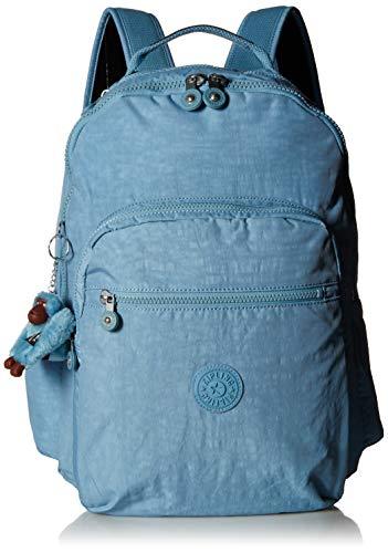 Kipling Seoul Go Laptop, Padded, Adjustable Backpack Straps, Zip Closure, Blue Beam Tonal (Backpack Strap Cute One)