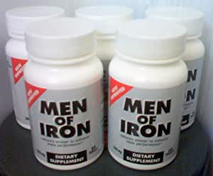 5 Bottles of Men of Iron ~ Male Enhancement Supplements
