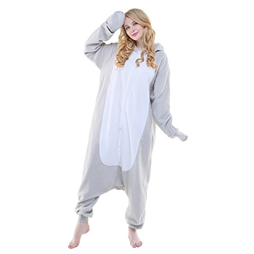 Cow Costume Seal (Newcosplay Halloween Neutral Adult Cartoon Costume Animal Cosplay Costume Listing 1 (M, Gray Seal))