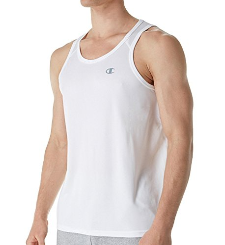 Champion Men's Vapor Select Tank Top with FreshIQ, White, 2XL (Champion White Tank Top)