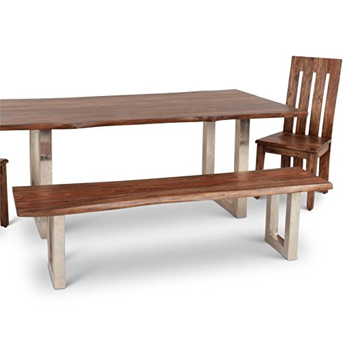 Steve Silver Riverwood Dining Bench in Chestnut with Dairymilk Wash by Steve Silver (Image #2)
