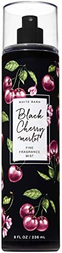 Bath and Body Works BLACK CHERRY MERLOT Fine Fragrance Mist 8 Fluid Ounce (2019 Edition, White Barn Label)